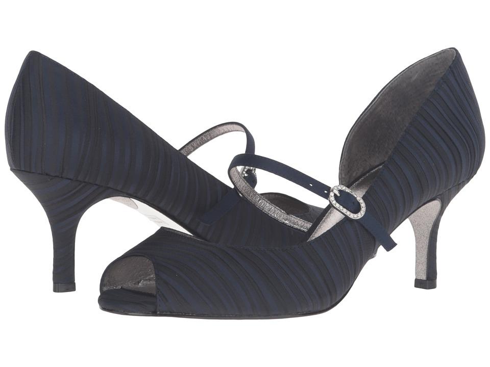 Adrianna Papell - Janet (Ink (Navy) Strata Satin) High Heels
