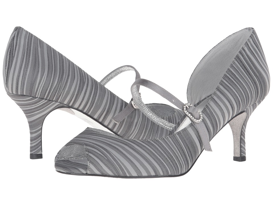 Adrianna Papell - Janet (Pewter Strata Satin) High Heels