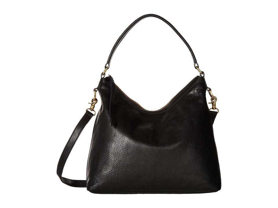 Frye - Claude Hobo (Black Tumbled Full Grain) Hobo Handbags