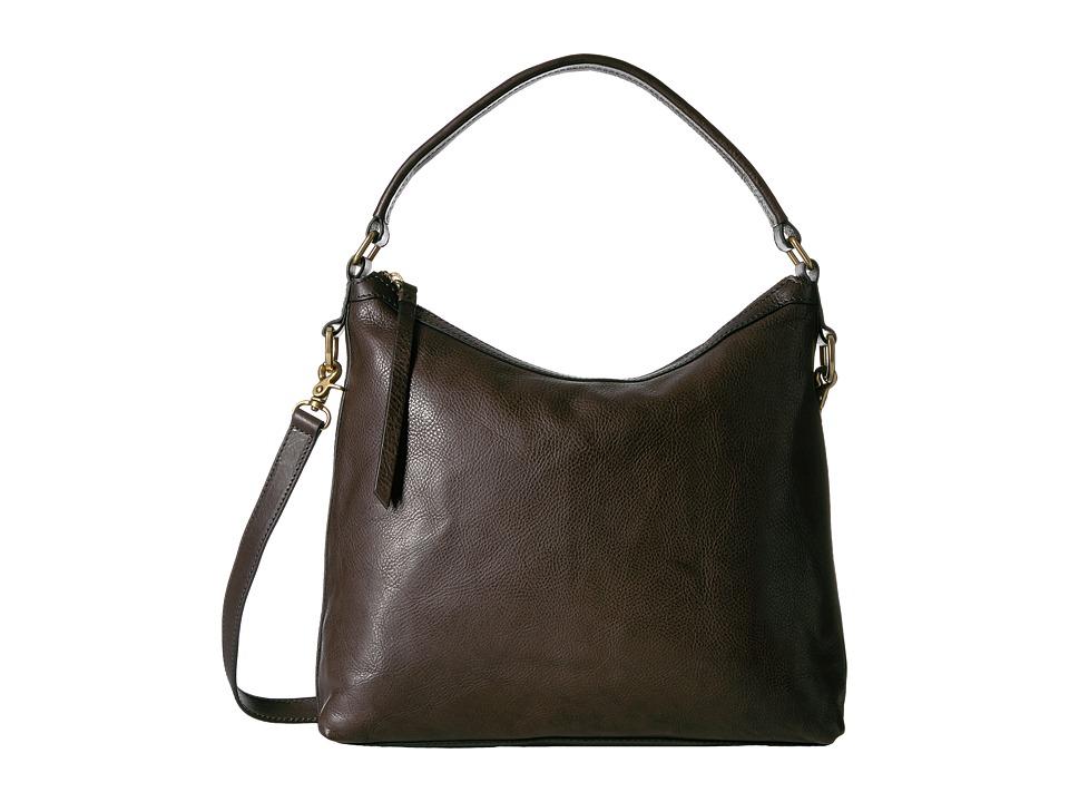 Frye - Claude Hobo (Charcoal Tumbled Full Grain) Hobo Handbags