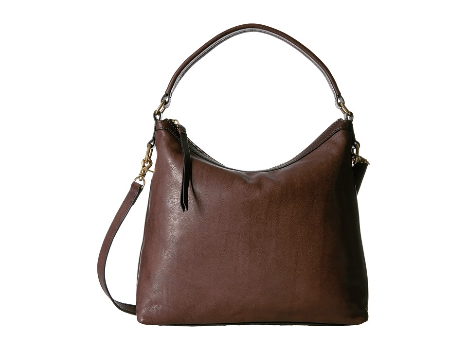 Frye - Claude Hobo (Chocolate Tumbled Full Grain) Hobo Handbags