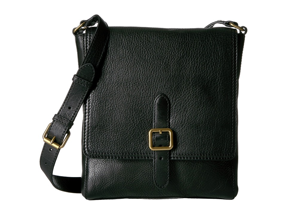 Frye - Claude Messenger (Black Tumbled Full Grain) Messenger Bags