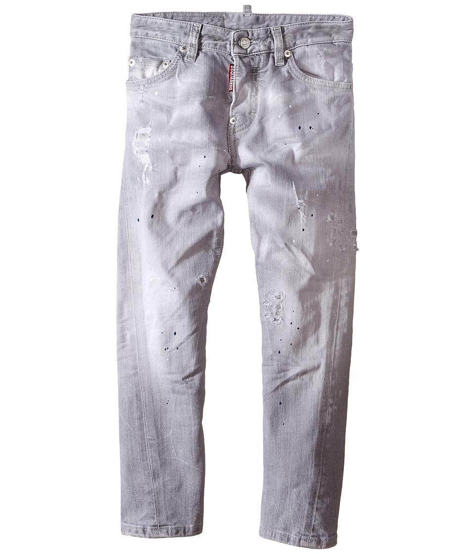 Dsquared2 Kids - Light Grey Wash Twist Kenny Jeans (Big Kids) (Denim Black) Boy's Jeans