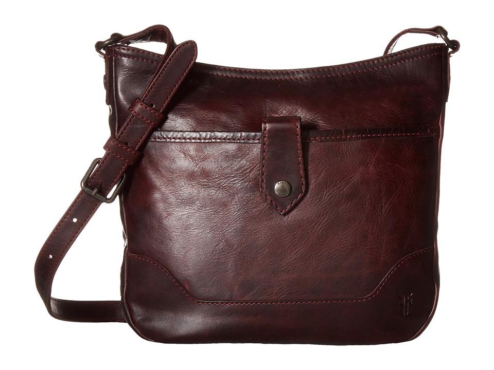 Frye - Melissa Button Crossbody (Wine) Cross Body Handbags