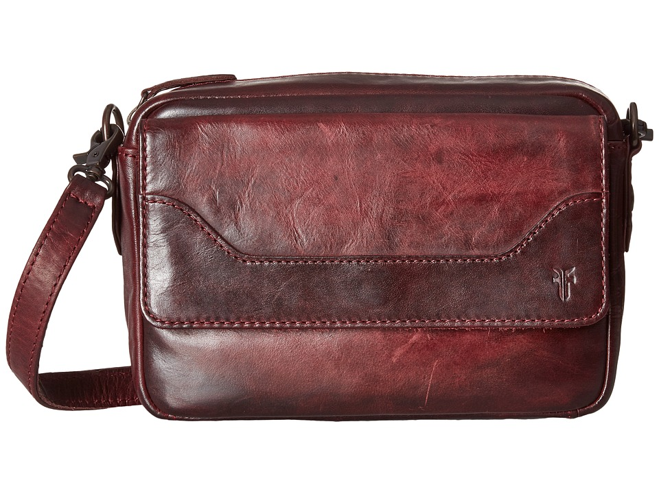 Frye - Melissa Camera Crossbody (Wine Antique Pull Up) Cross Body Handbags