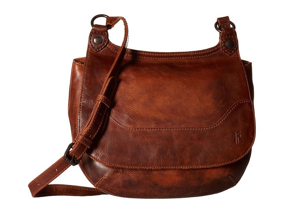 Frye - Melissa Saddle (Cognac Antique Pull Up) Handbags