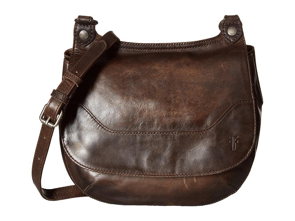 Frye - Melissa Saddle (Slate Antique Pull Up) Handbags