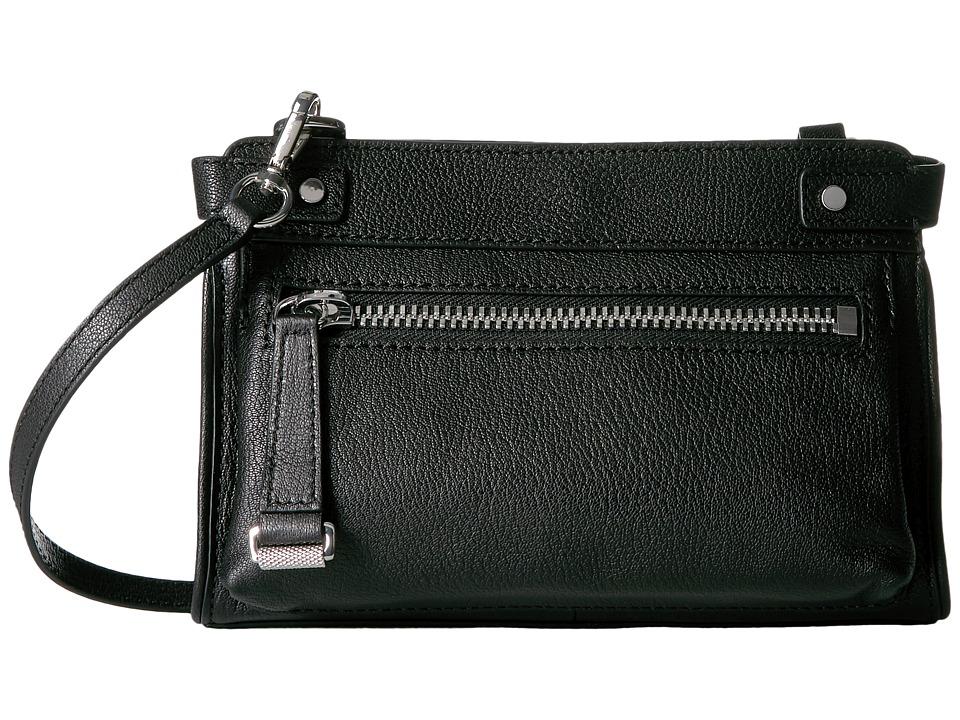 Frye - Natalie Moto Crossbody (Black Soft Pebbled Leather) Cross Body Handbags