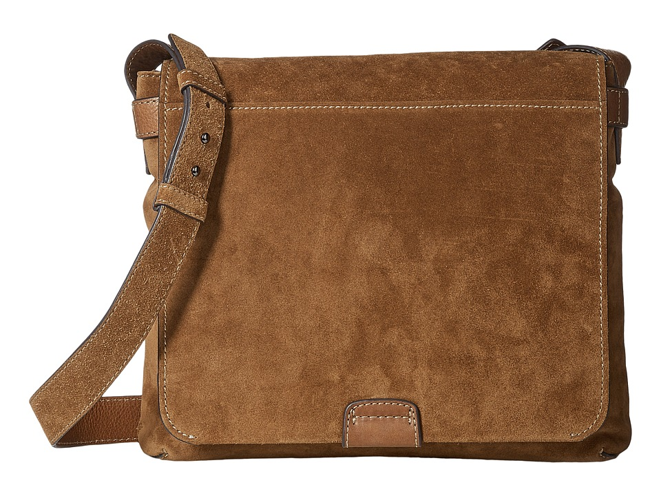 Frye Chris Messenger (Sand Soft Suede) Messenger Bags