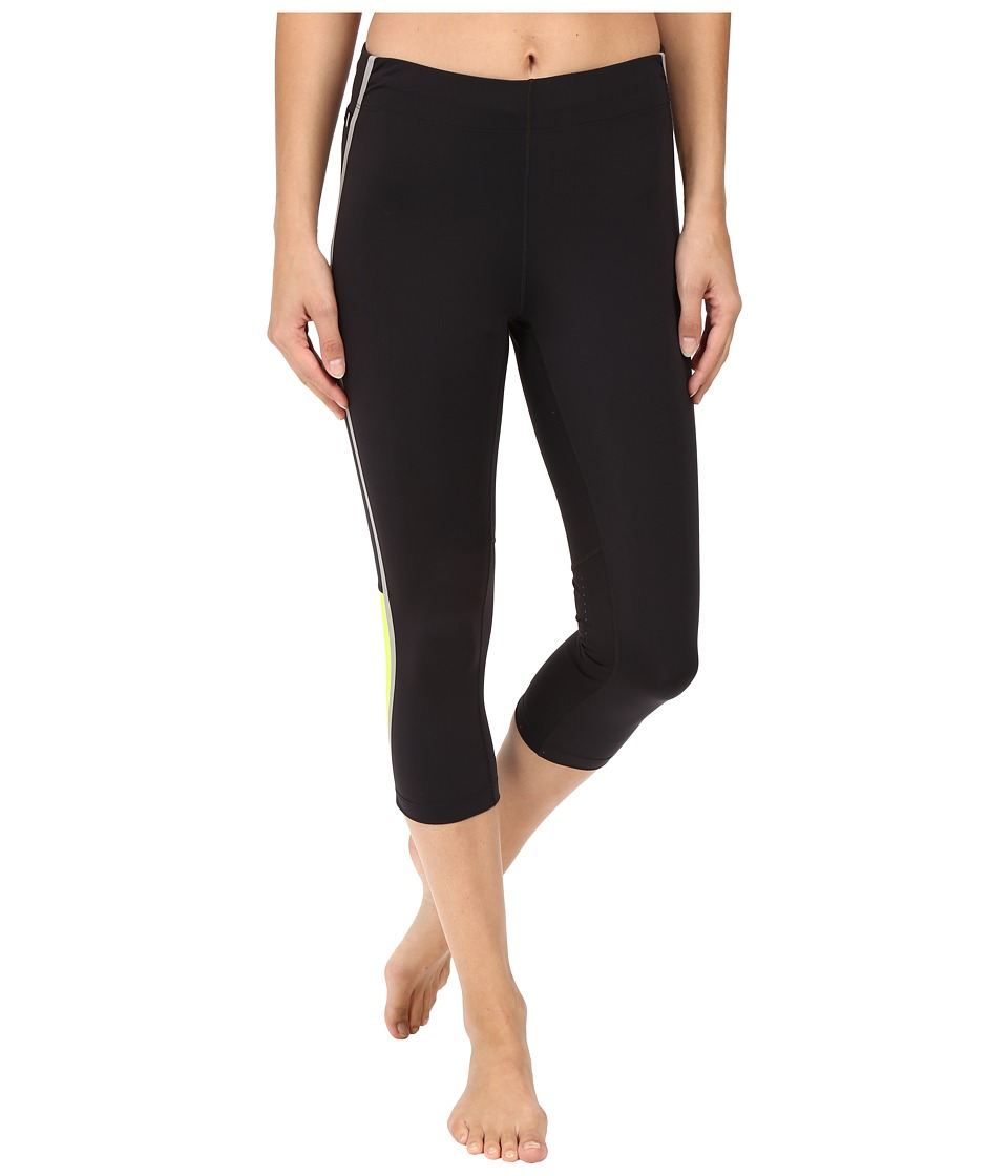 New Balance - Beacon Capris (Black/Hi-Lite) Women's Capri