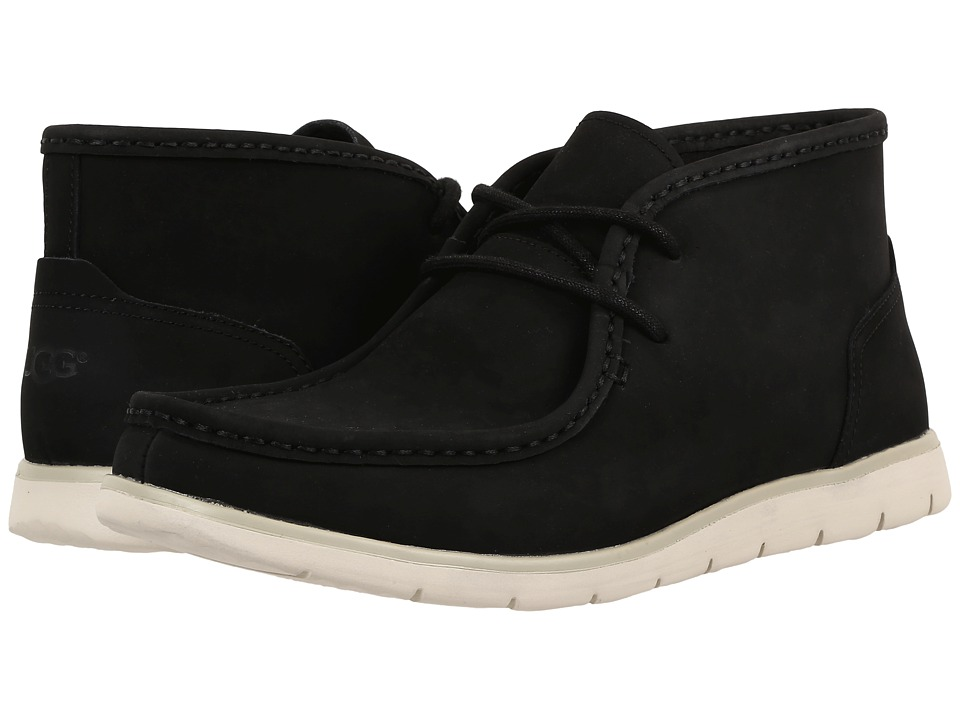 UGG Hendrickson Black Leather Mens Shoes