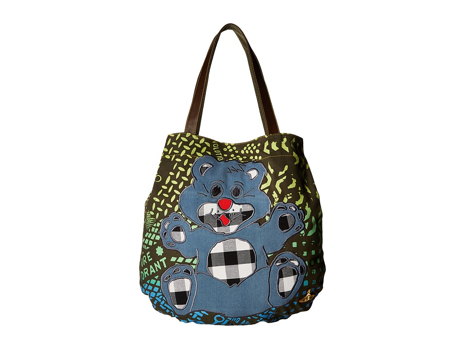Vivienne Westwood - Africa Manhole Shopper (Green Manhole) Tote Handbags