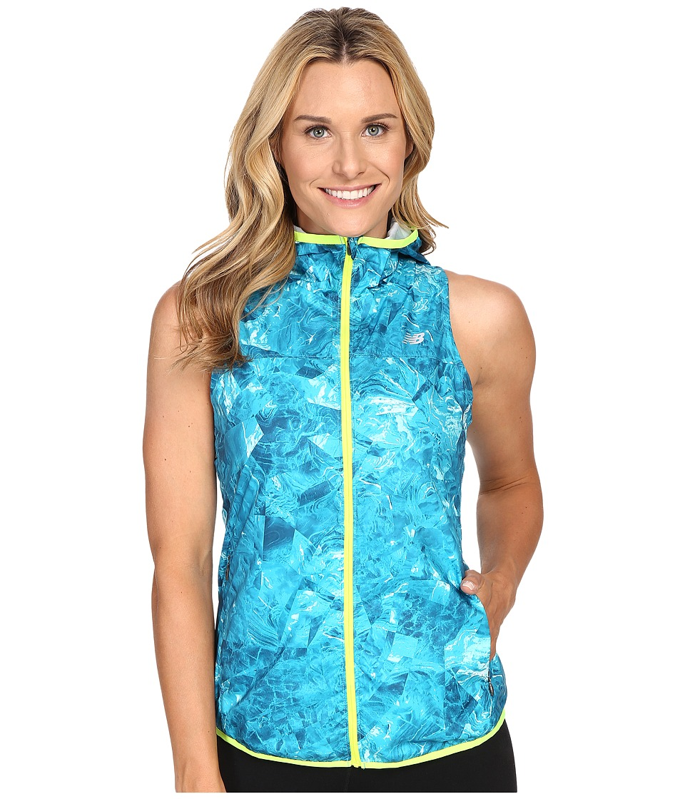 New Balance - Windcheater Vest (Seaglass Print) Women's Vest