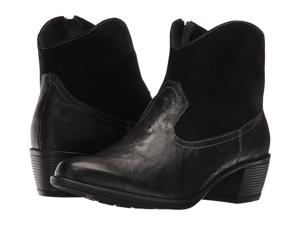 Munro - Laramie (Black Leather/Suede) Cowboy Boots