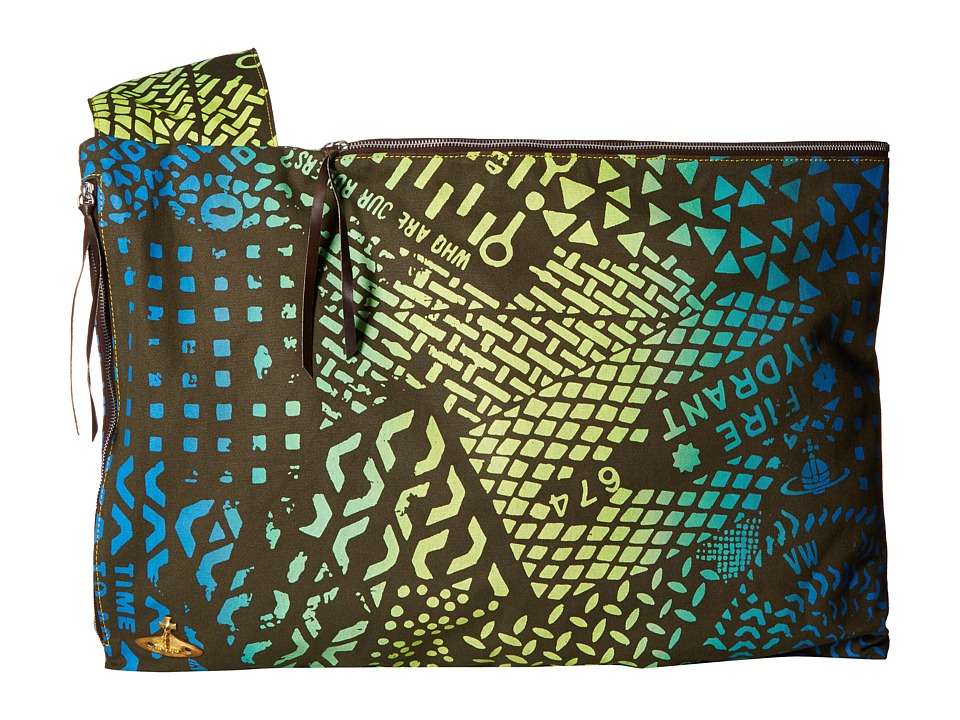 Vivienne Westwood - Africa Large Propaganda Bag (Green Manhole) Messenger Bags