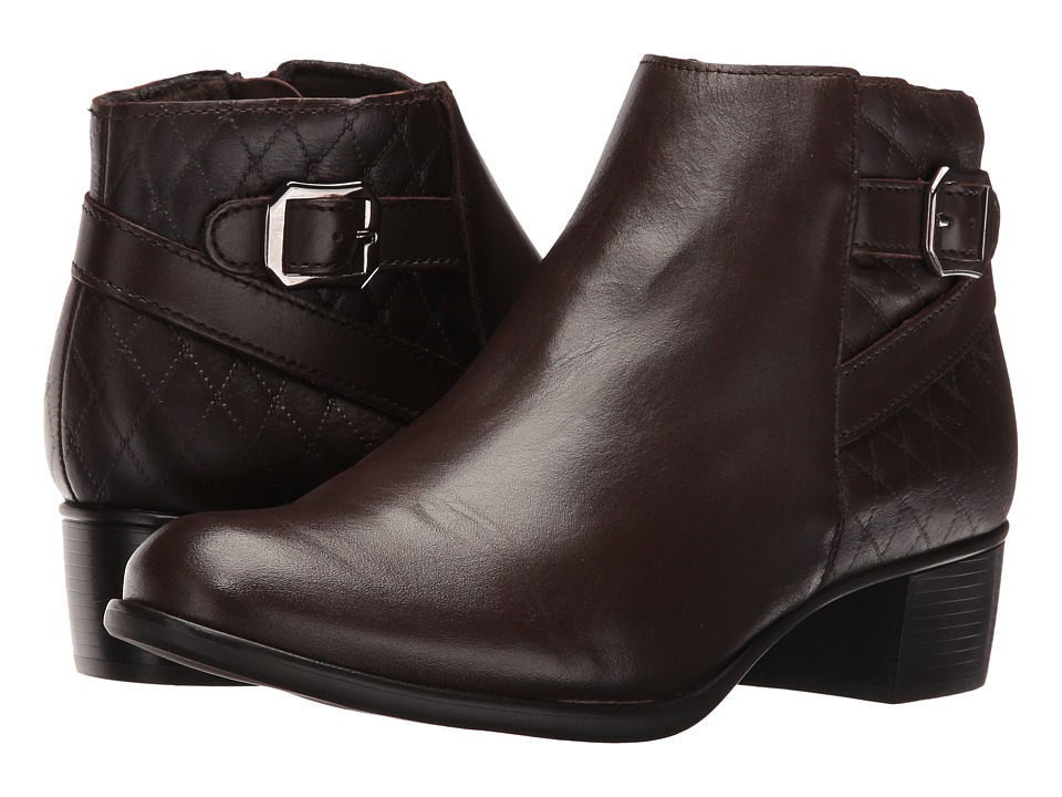 Munro - Jolynn (Brown Leather/Quilted Detail) Women's Pull-on Boots