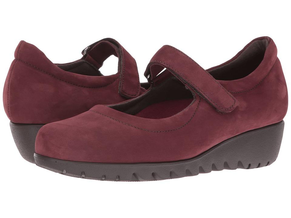 Munro - Pia (Wine Nubuck) Women's Hook and Loop Shoes