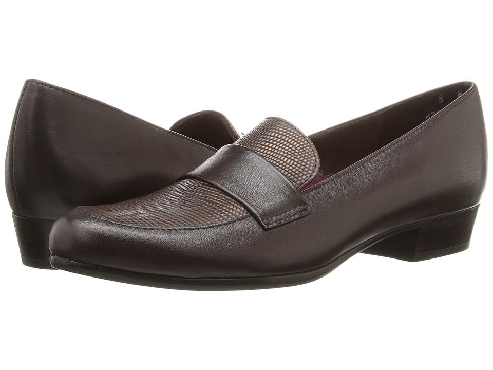 Munro - Kiera (Brown Leather/Lizard) Women's Slip-on Dress Shoes