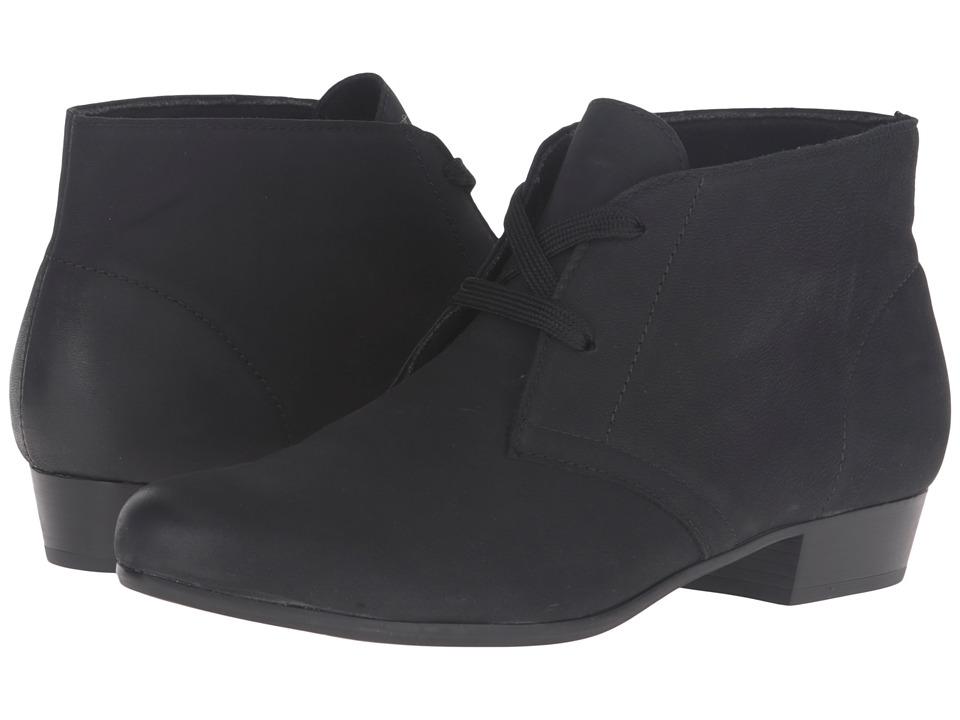 Munro Sloane (Black Distressed Leather) Women