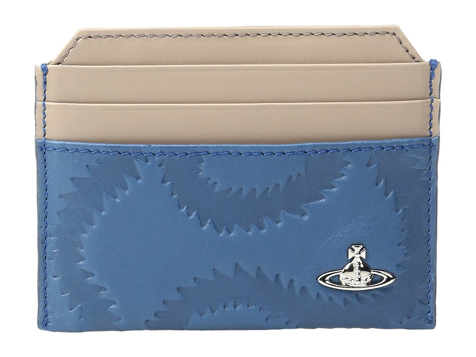 Vivienne Westwood - Squiggle Card Holder (Blue) Credit card Wallet