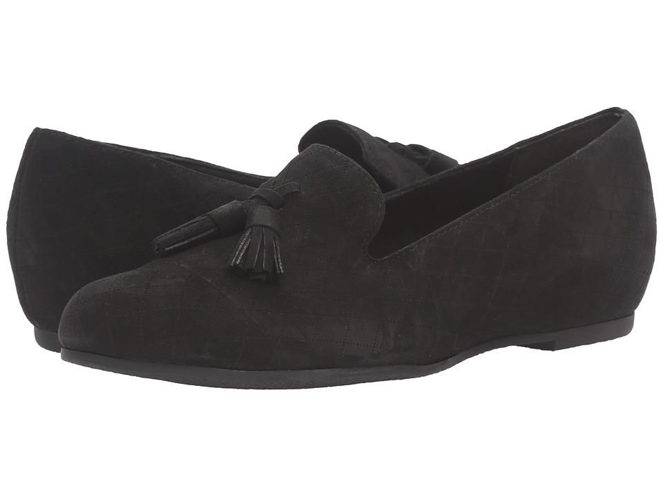 Munro - Tallie (Black Kid Suede) Women's Slippers