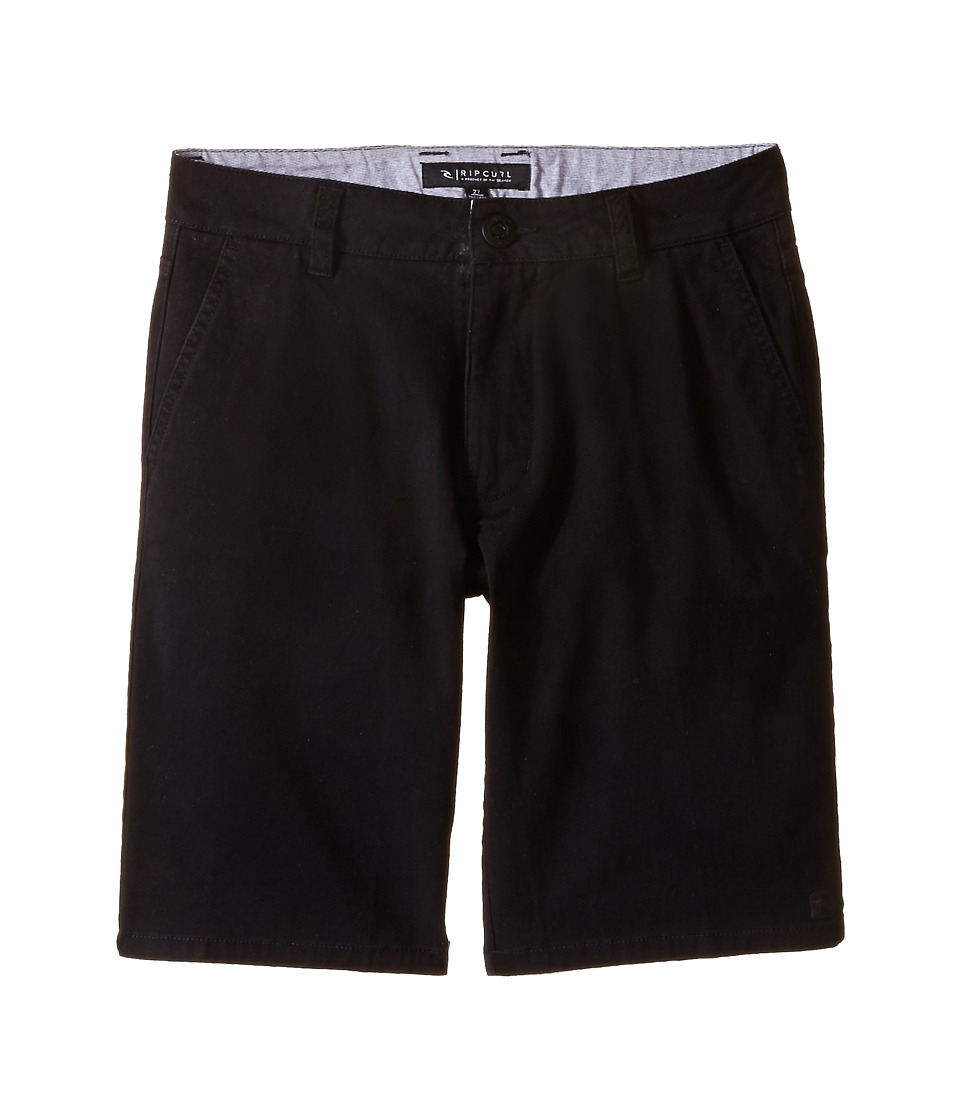 Rip Curl Kids - Epic Stretch Chino Walkshorts (Big Kids) (Black) Boy's Shorts