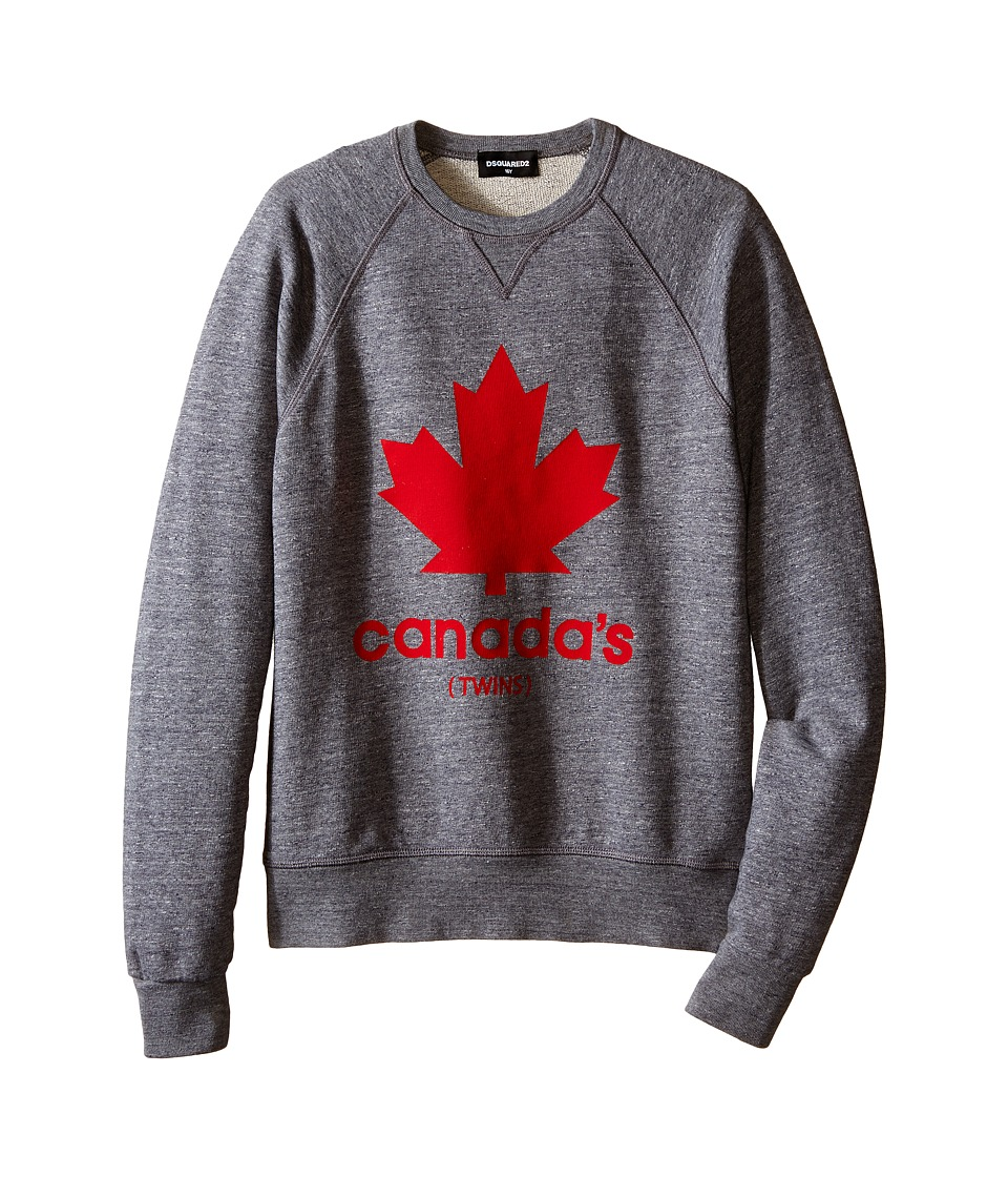 Dsquared2 Kids - Maple Leaf Sweatshirt (Big Kids) (Grey) Boy's Sweatshirt