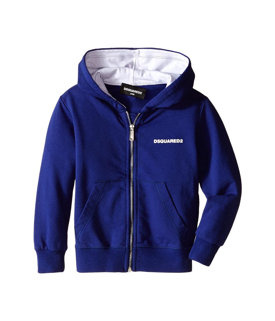 Dsquared2 Kids - Hoodie Sweater w/ Zipper (Infant) (Blue) Boy's Sweatshirt