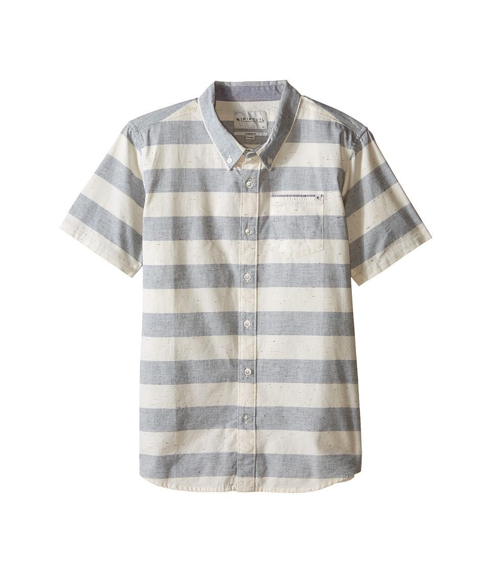 Rip Curl Kids - El Tule Short Sleeve Shirt (Big Kids) (Navy) Boy's Short Sleeve Button Up