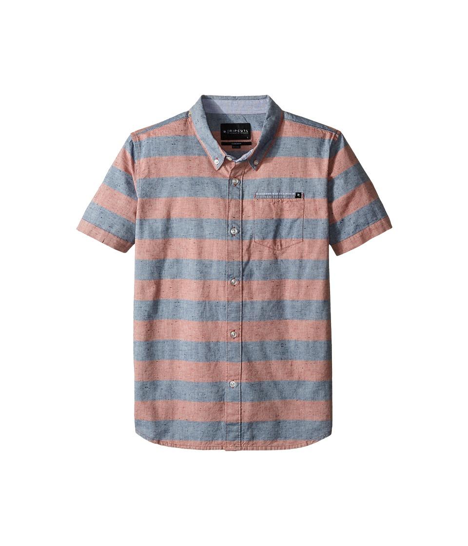 Rip Curl Kids - El Tule Short Sleeve Shirt (Big Kids) (Red) Boy's Short Sleeve Button Up