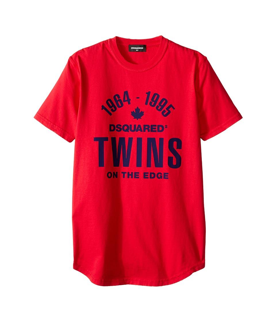 Dsquared2 Kids Short Sleeve T-Shirt (Big Kids) (Pepper) Boy