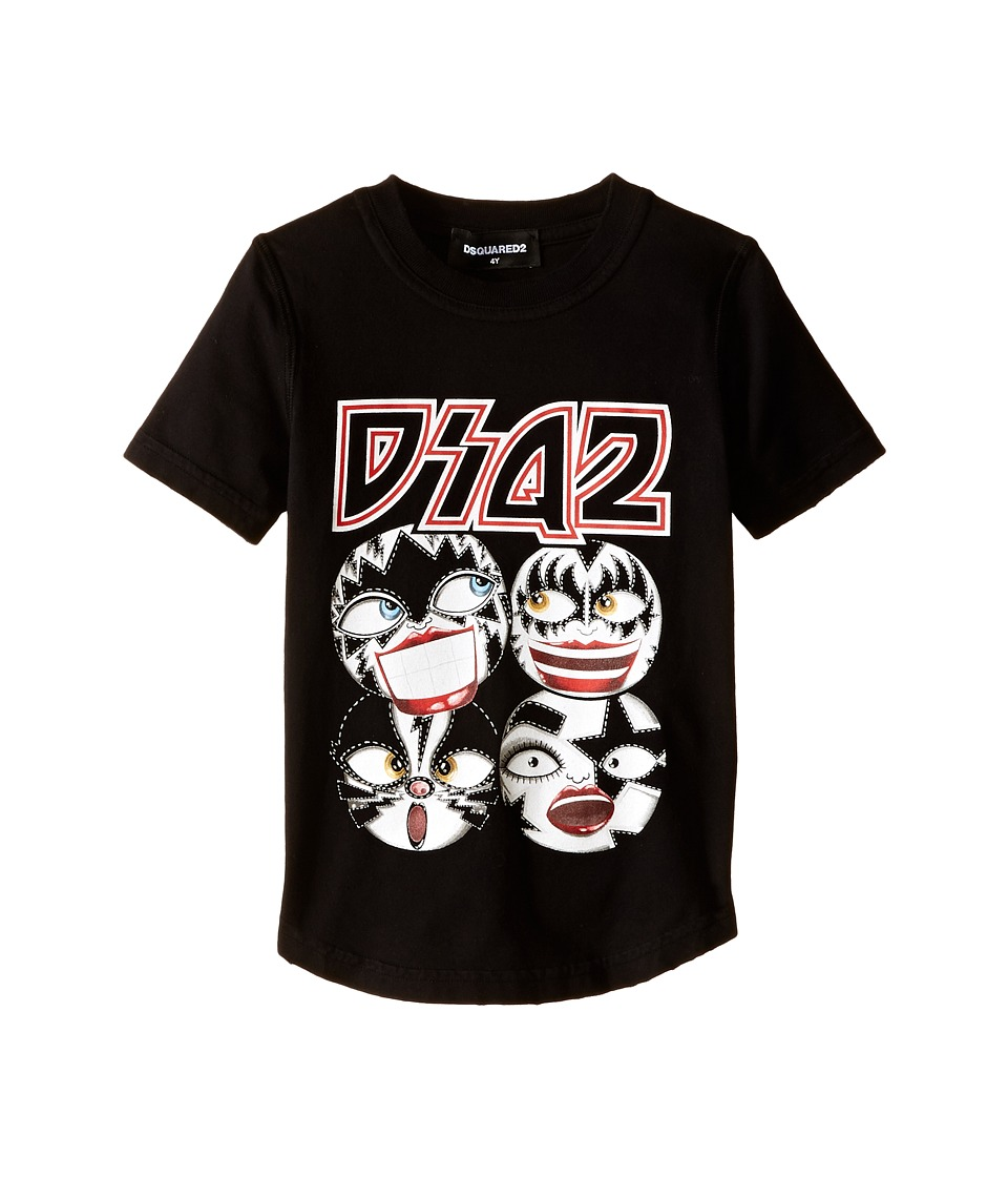 Dsquared2 Kids - Graphic Tee (Little Kids/Big Kids) (Black) Boy