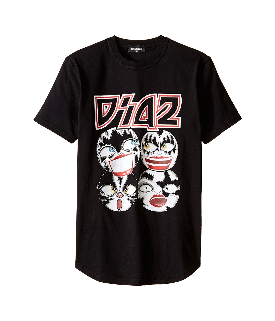 Dsquared2 Kids Graphic Tee (Big Kids) (Black) Boy