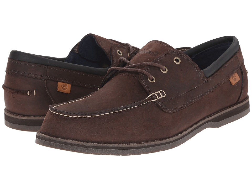 Timberland - Alton Bay 3 Eye Boat Shoe (Brown) Men's Shoes