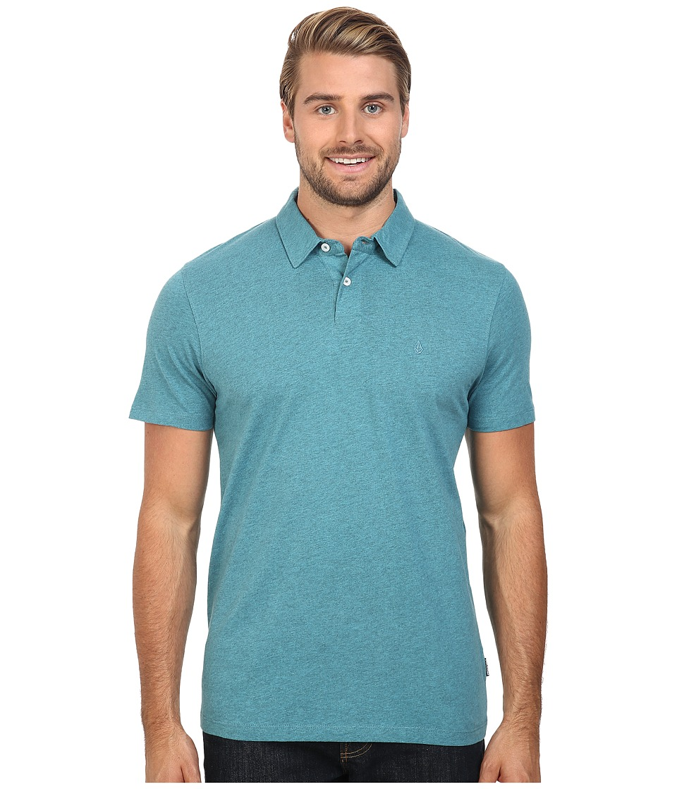 Volcom - Wowzer Polo (Harbor Blue) Men's Short Sleeve Knit