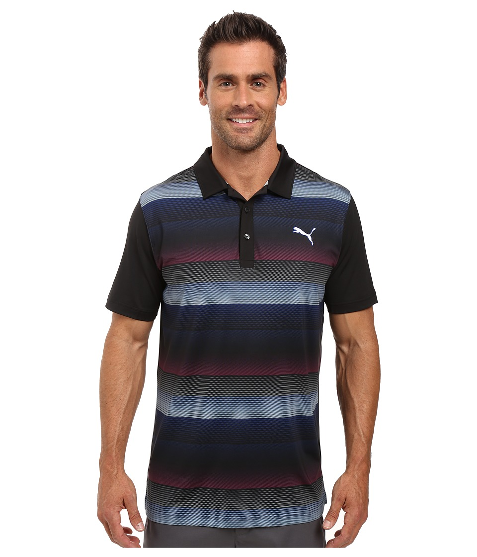 PUMA Golf - GT Roadmap Polo (Black) Men's Clothing