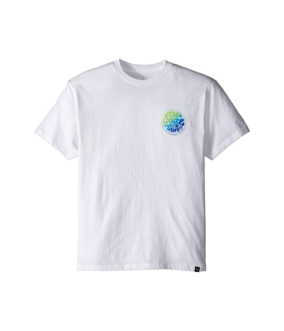 Rip Curl Kids - Wettie Premium Tee (Big Kids) (White) Boy's Short Sleeve Pullover