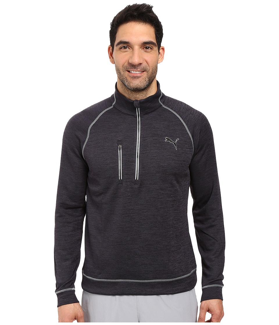 PUMA Golf - PWRWarm 1/4 Zip Popover (Black) Men's Sweatshirt