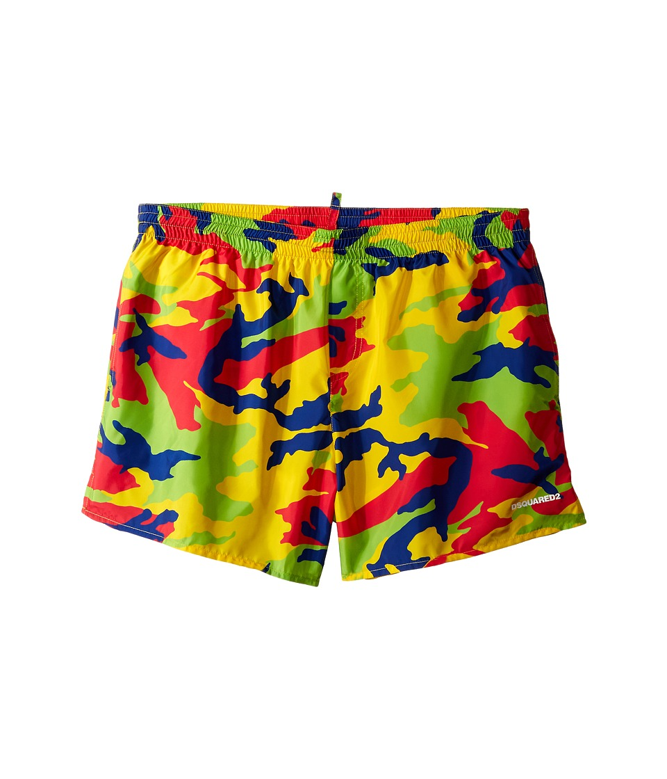 Dsquared2 Kids - Camouflage Shorts (Big Kids) (Multi) Boy's Swimwear