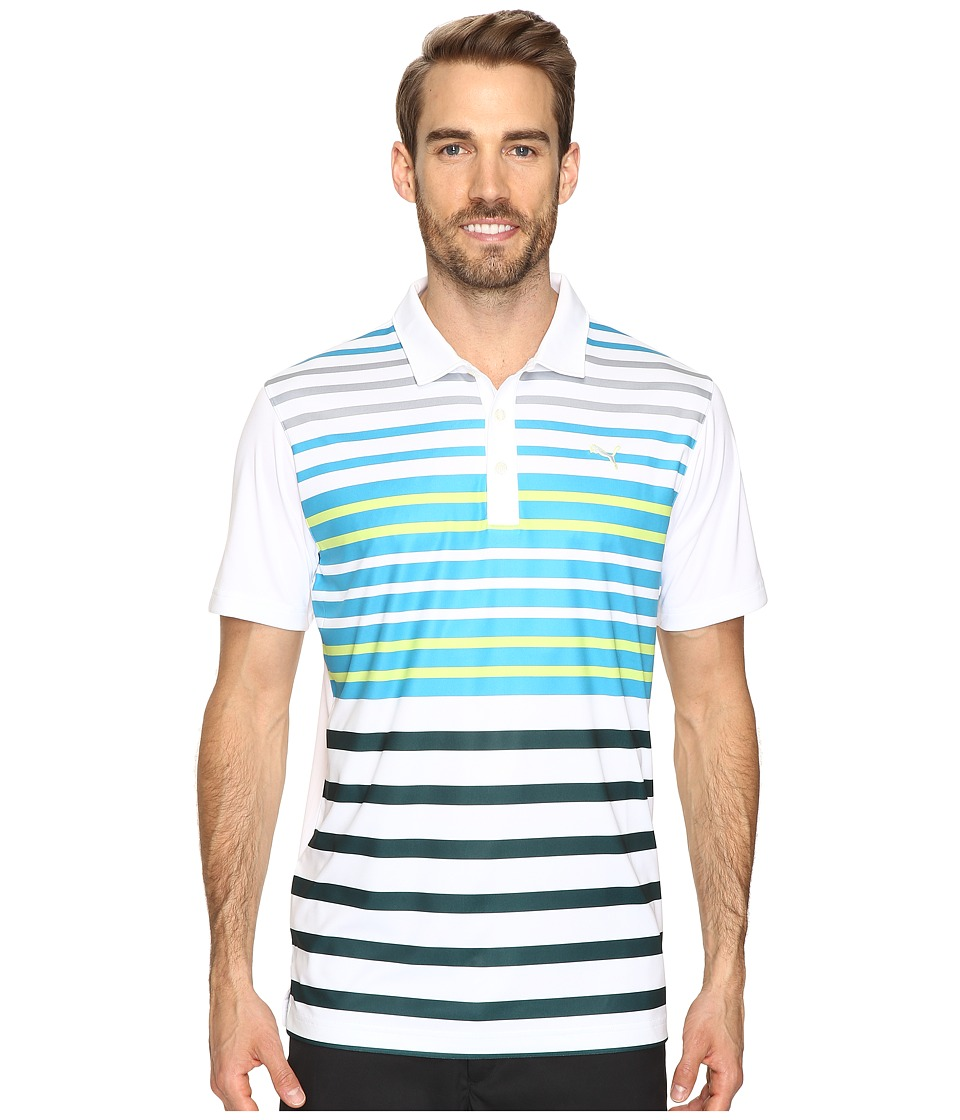 PUMA Golf - Road Map Polo (Surf the Web) Men's Short Sleeve Knit