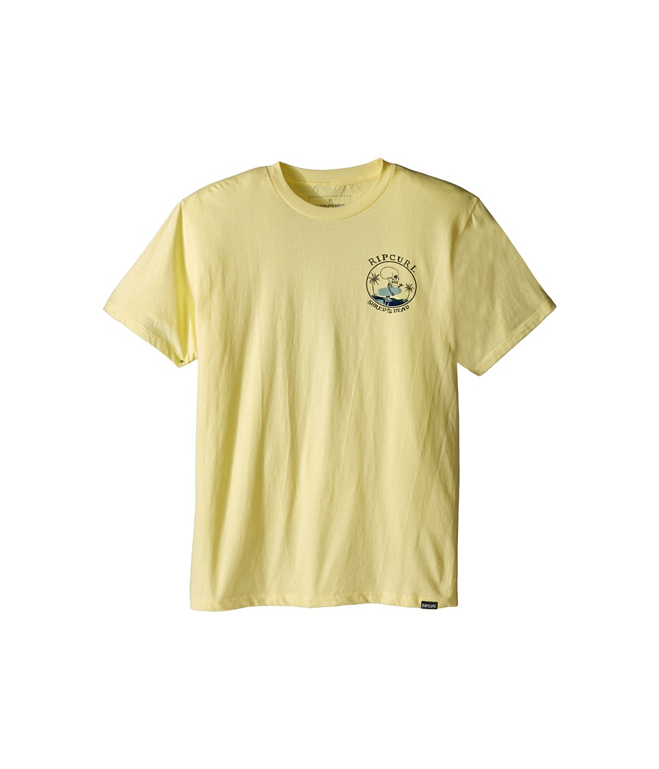 Rip Curl Kids - Shred Till Dead Premium Tee (Big Kids) (Yellow) Boy's Short Sleeve Pullover