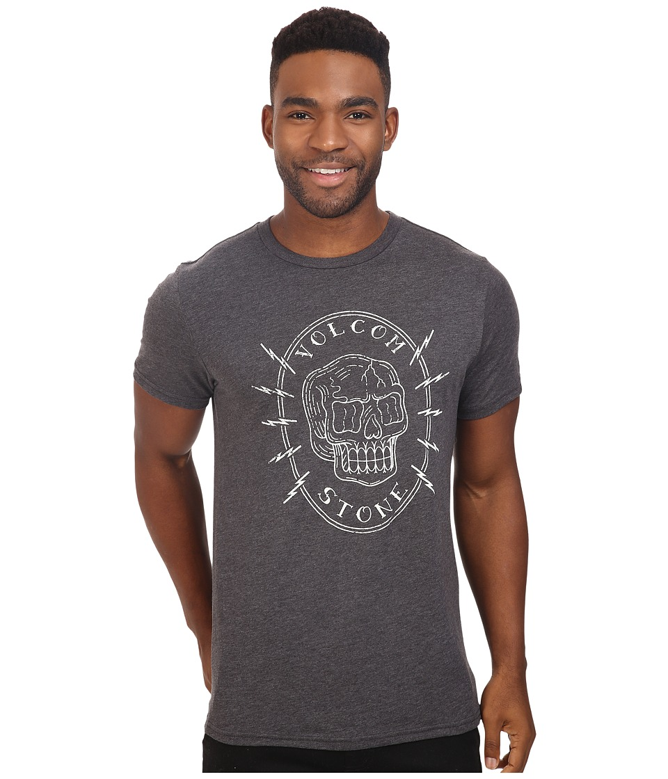 Volcom - Cycle Short Sleeve Tee (Heather Black) Men's T Shirt