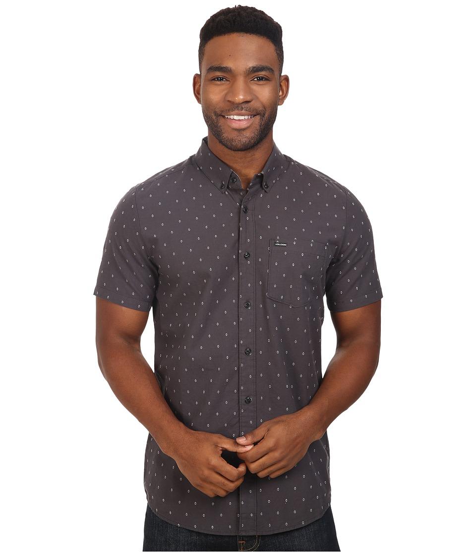 Volcom - Zeller Short Sleeve Woven (Stealth) Men's Clothing