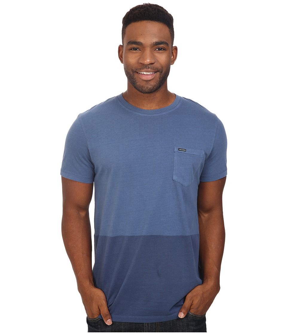 Volcom - Grant Crew (Smokey Blue) Men's T Shirt