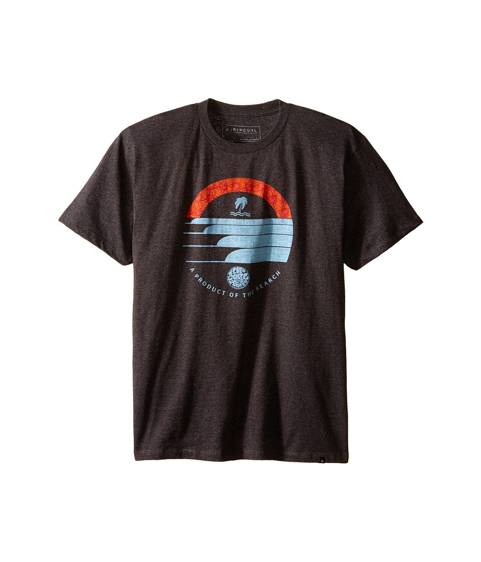 Rip Curl Kids - Lobitos Heather Tee (Big Kids) (Charcoal) Boy's Short Sleeve Pullover