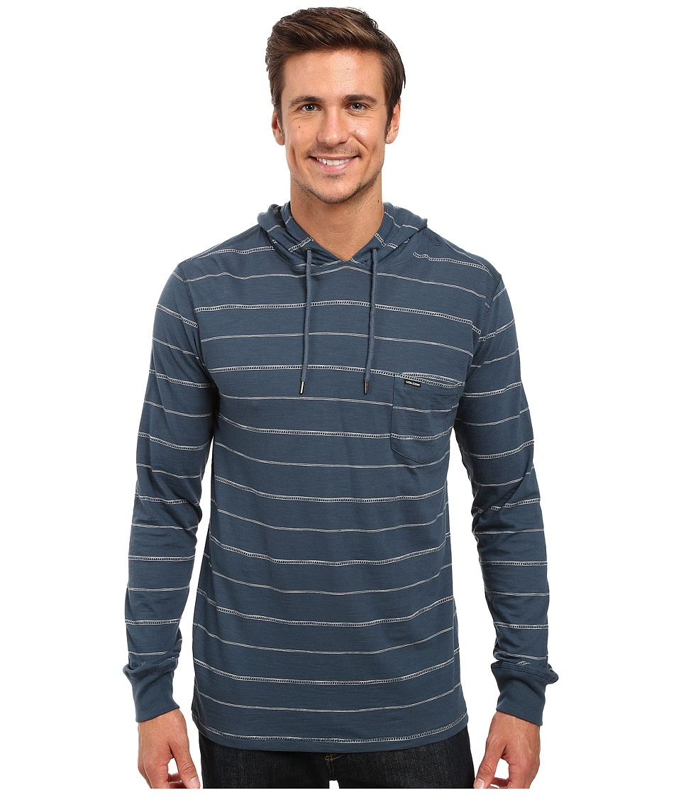Volcom - Long Sleeve Eezy Hoodie (Air Force Blue) Men's Sweatshirt