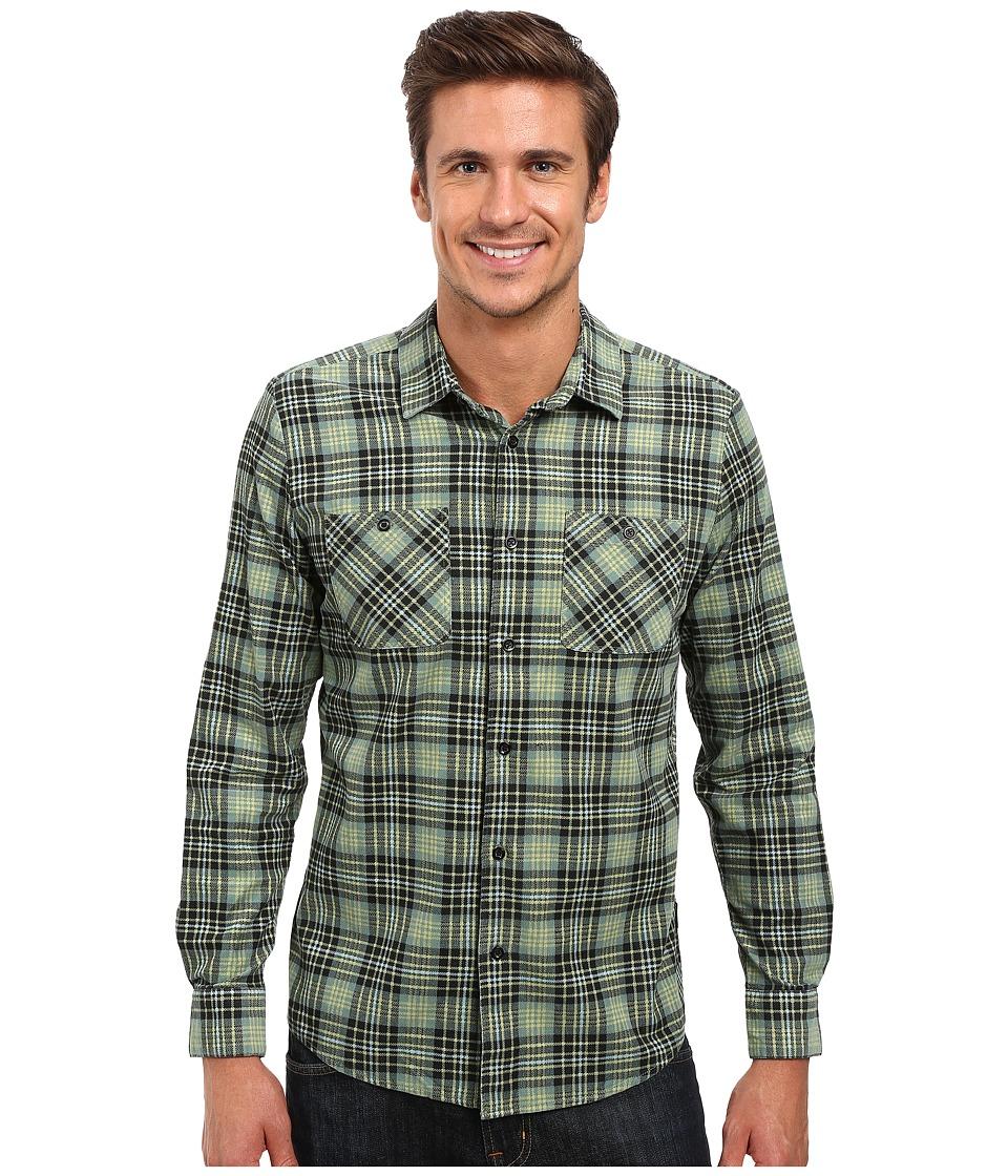 Volcom - Kanter Long Sleeve Woven (Sage) Men's Clothing