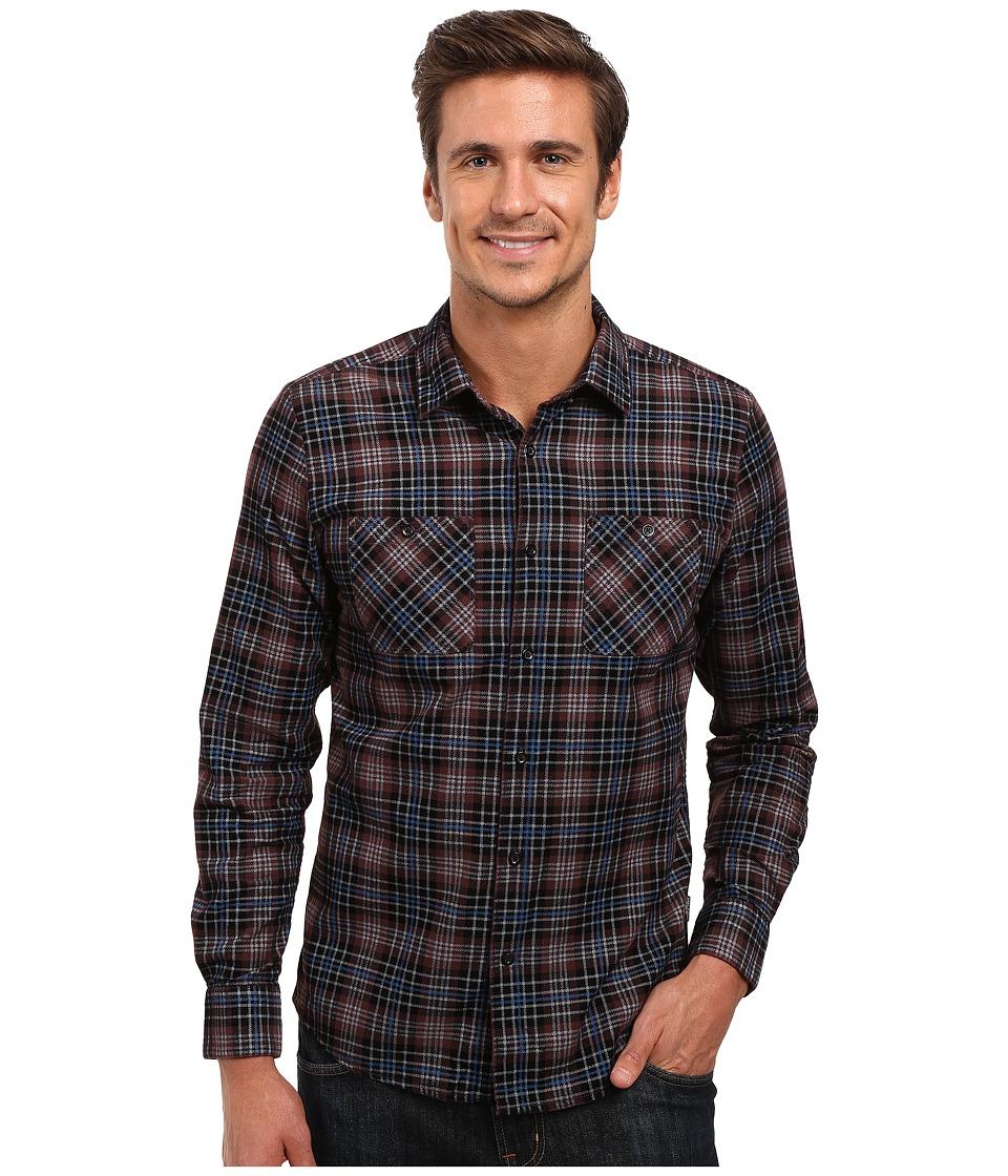Volcom - Kanter Long Sleeve Woven (Plum) Men's Clothing