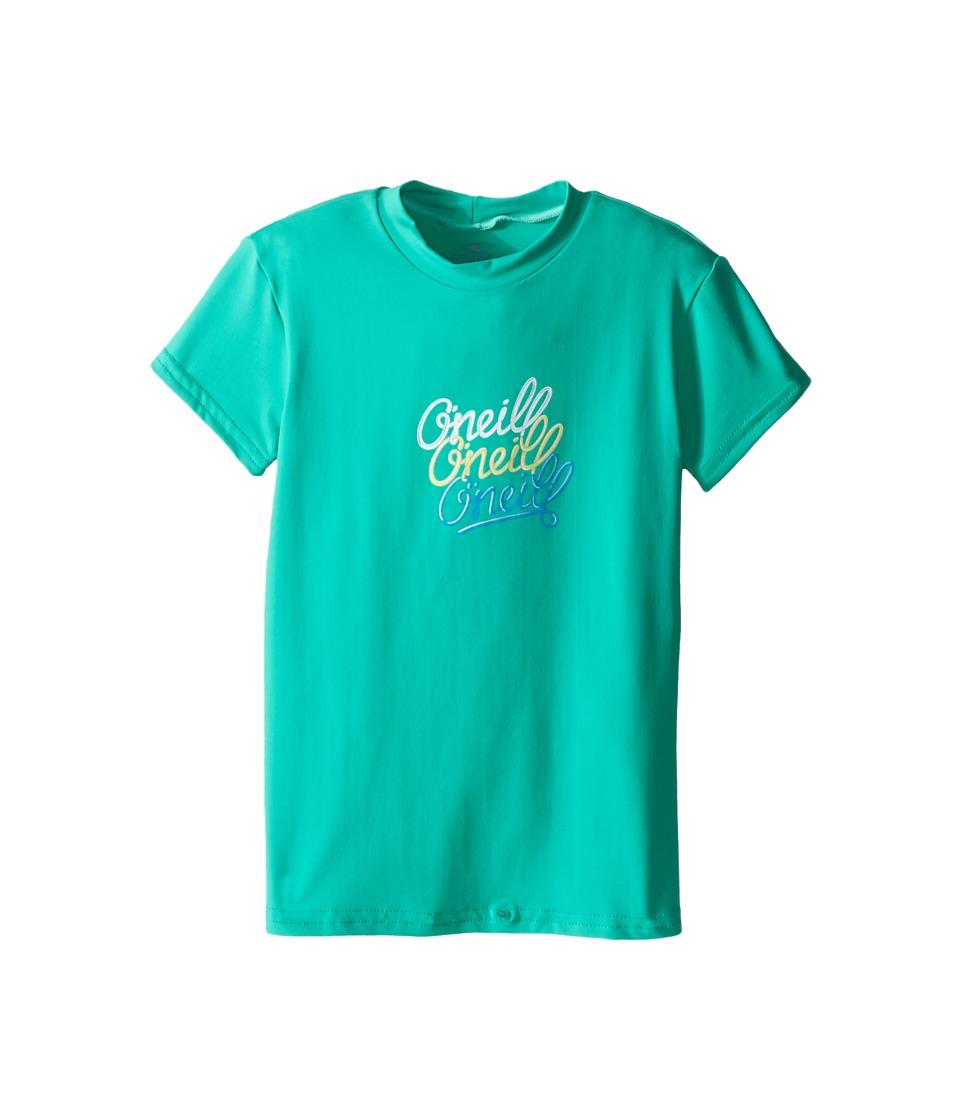 O'Neill Kids - Skins Short Sleeve Rash Tee (Little Kids/Big Kids) (Seaglass) Girl's Swimwear