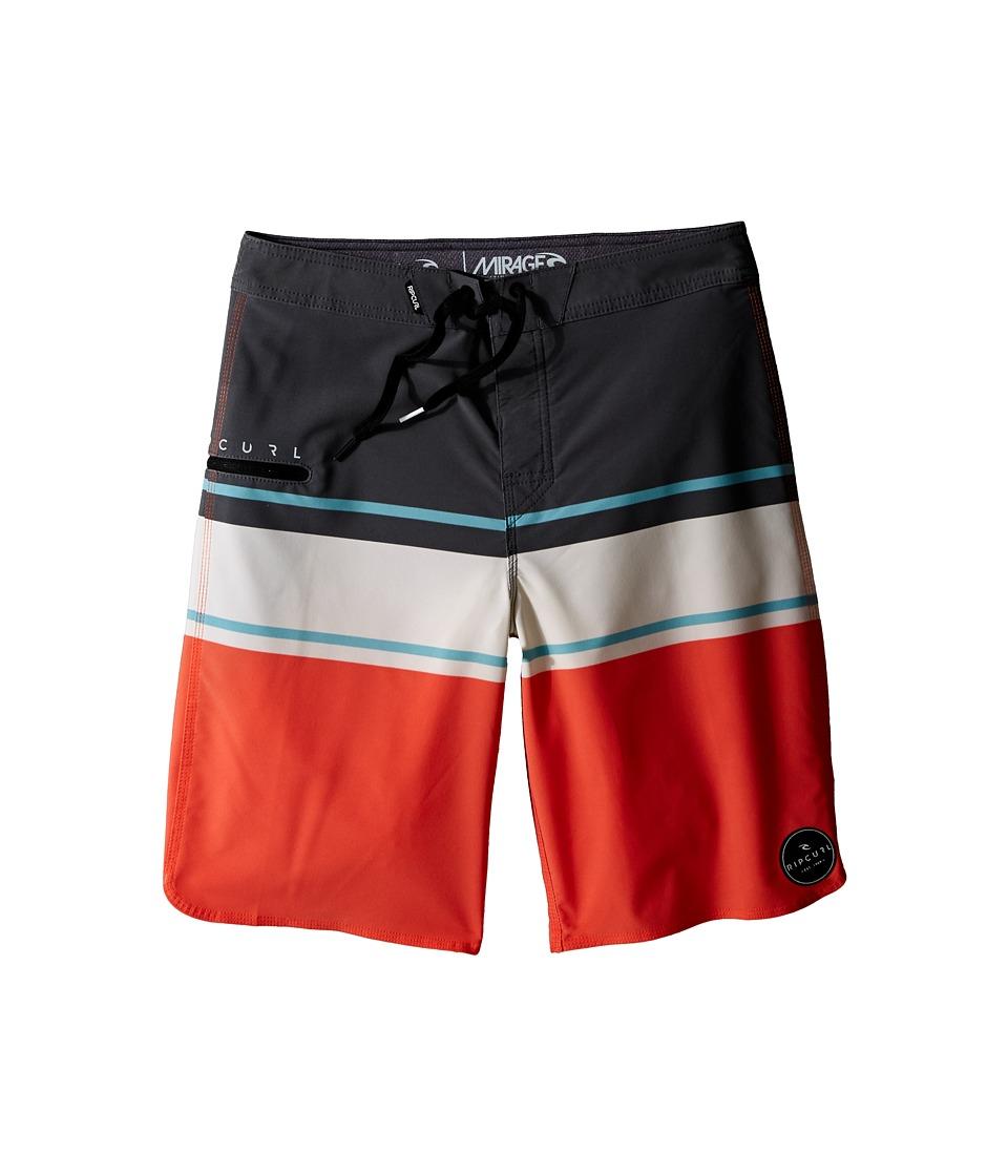Rip Curl Kids Mirage Offset Boardshorts (Big Kids) (Coral) Boy